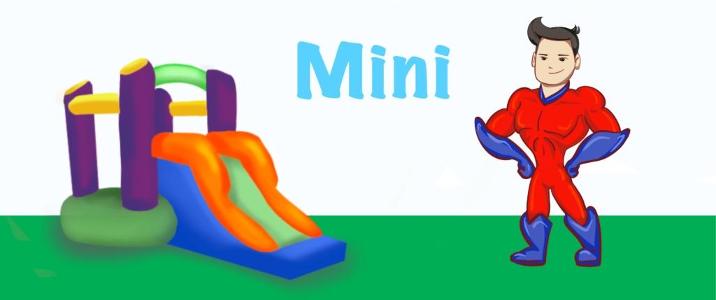 noleggio di gonfiabili da interno come i mini gonfiabili