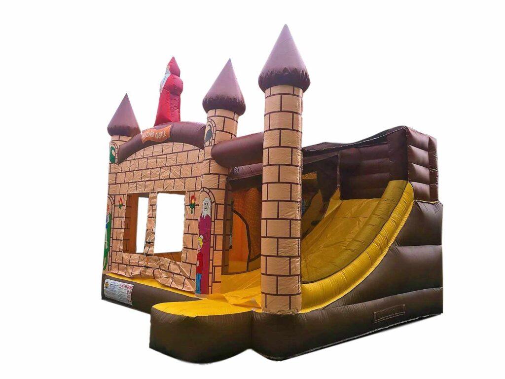 gonfiabile combinato castello medievale