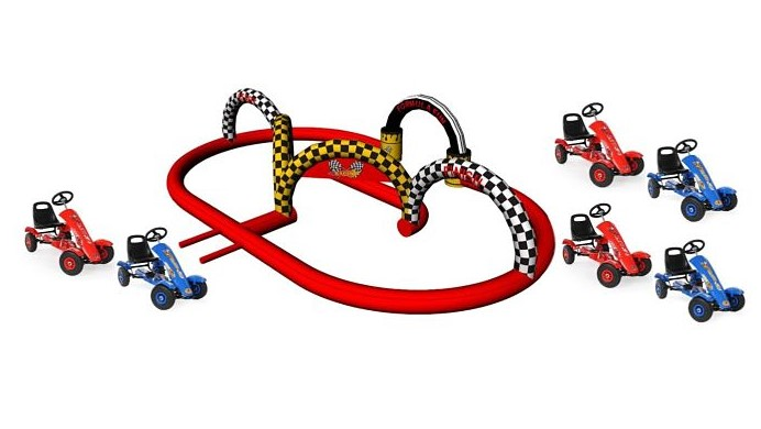 gonfiabile sportivo pista dei go kart