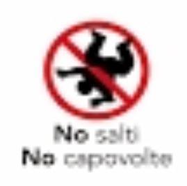 regolamento del gonfiabile no salti no capriole